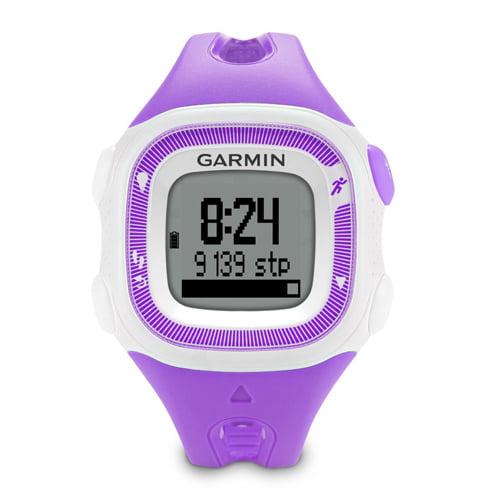 "Refurbished ""Garmin Forerunner 15, Small - Violet and White GPS Running Watch"