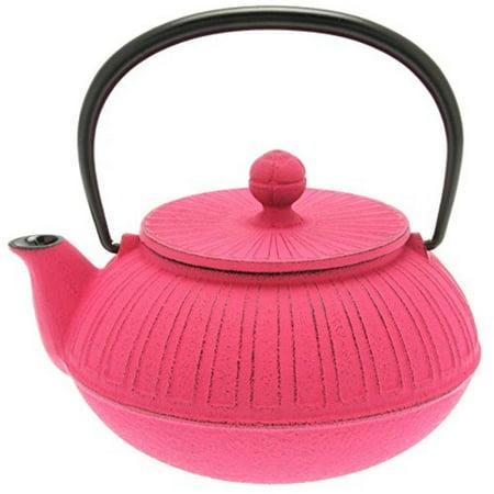 Iwachu Japanese Iron Tetsubin Teapot, Pink Chrysanthemum