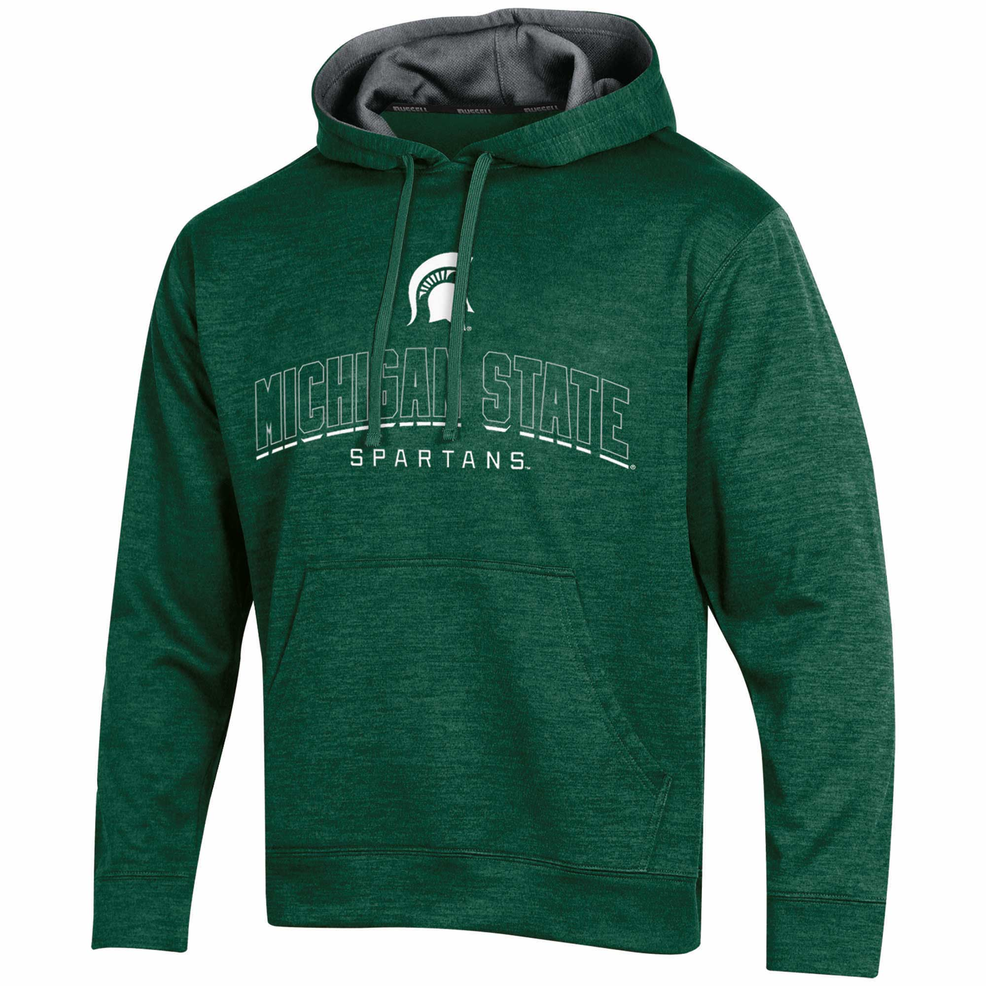 Men's Russell Green Michigan State Spartans Synthetic Pullover Hoodie