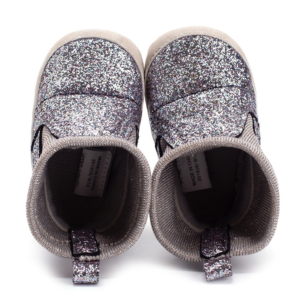 82223bb12034 Canis - Baby Girl Glitter Snow Boots Winter Booties Infant Toddler Newborn  Shoes 0-18M - Walmart.com