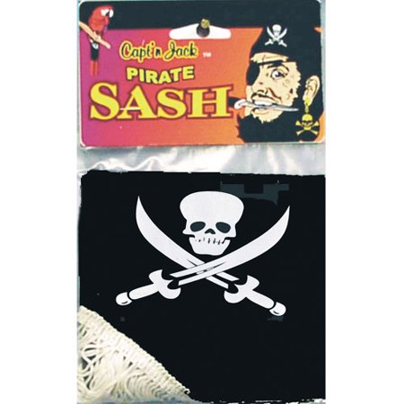 Pirate Jack Wash Sash Adult Halloween Accessory](Pirate Halloween Sayings)
