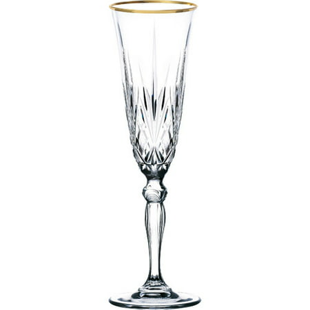 Lorren Home Trends Siena Champagne Flute Set Of 4 Walmart