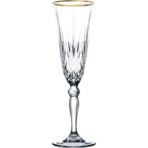 Lorren Home Trends Siena 6 Oz Crystal Flute Set Of 4 Walmart Com Walmart Com