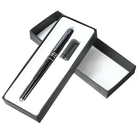 ZeAofa Fashion Slim Metal Fine Nib Point Study Office Fountain Pen Student Teacher
