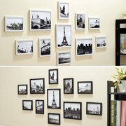 jeteven 11pcs wall hanging photo frame set family picture display modern art home decorwhite