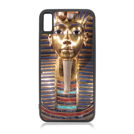 King Tut - Egyptian Pharaoh Tutankhamun Black Rubber Case for iPhone XR - iPhone XR Phone Case - iPhone XR Accessories](Black Pharaohs)