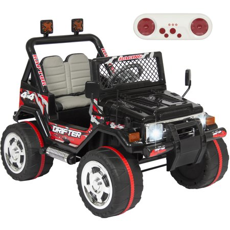 Best Choice Products 12V Ride On Car Truck W  Remote Control  Leather Seat  Lights  2 Speeds  Black