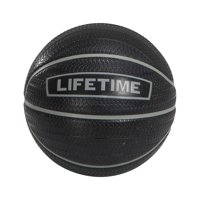 Lifetime 29.5 in. Official Size Rubber Basketball Black and Silver, 1186854