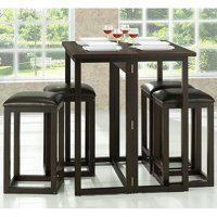 Leeds Brown Wood Collapsible Pub Table Set by Pub Tables