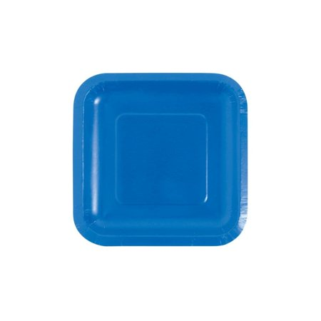 Cobalt Blue Square Paper Dessert Plates