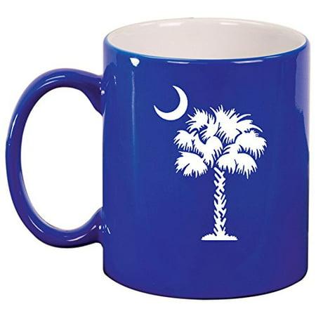Ceramic Coffee Tea Mug Cup Palmetto Tree South Carolina Palm Moon (Blue) Blue Moon Cup