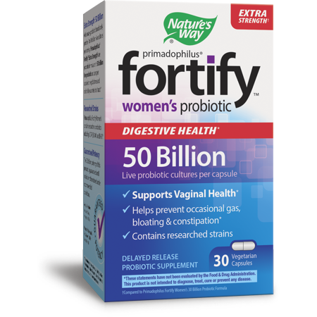 Natures Way Fortify Extra Strength Womens Probiotic 50 Billion Live Cultures 30 (Best Nature's Way Probiotics For Women)