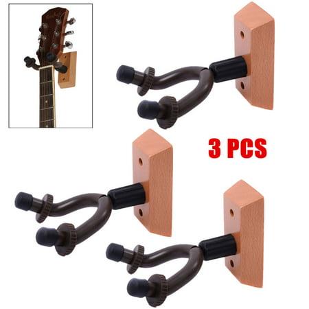 Portable Adujustable 3pcs Guitar Hangers Hook Holder Wall Mount Display  Instrument Guitar Rack - Portable Adujustable 3pcs Guitar Hangers Hook Holder Wall Mount