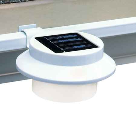 Solar Powered Led Gutter Safety Outdoor Light Easy