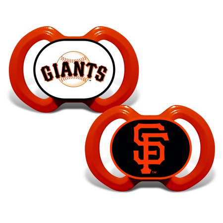 MLB San Francisco Giants 2-Pack Pacifiers (Baseball Pacifier)