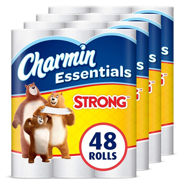 Charmin Essentials Strong Toilet Paper, 1-Ply, 48 Giant ...