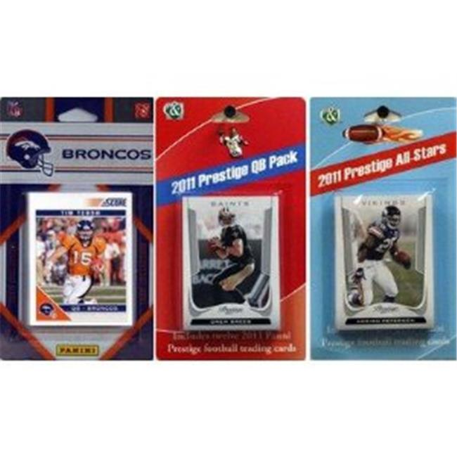 C & I Collectables 2011BRONCOSTSC NFL Denver Broncos Licensed 2011 Score Team Set With Twelve Card 2011 Prestige