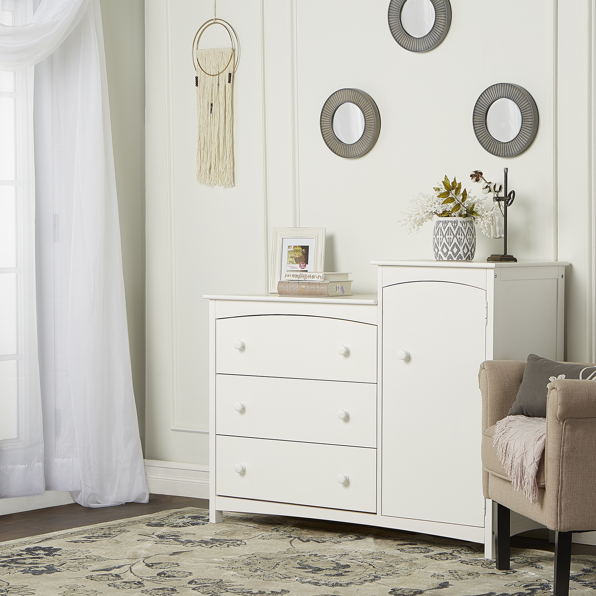 Dream on Me Providence 3-Drawer Chest Combo, White, Box 1 of 2 by Dream On Me