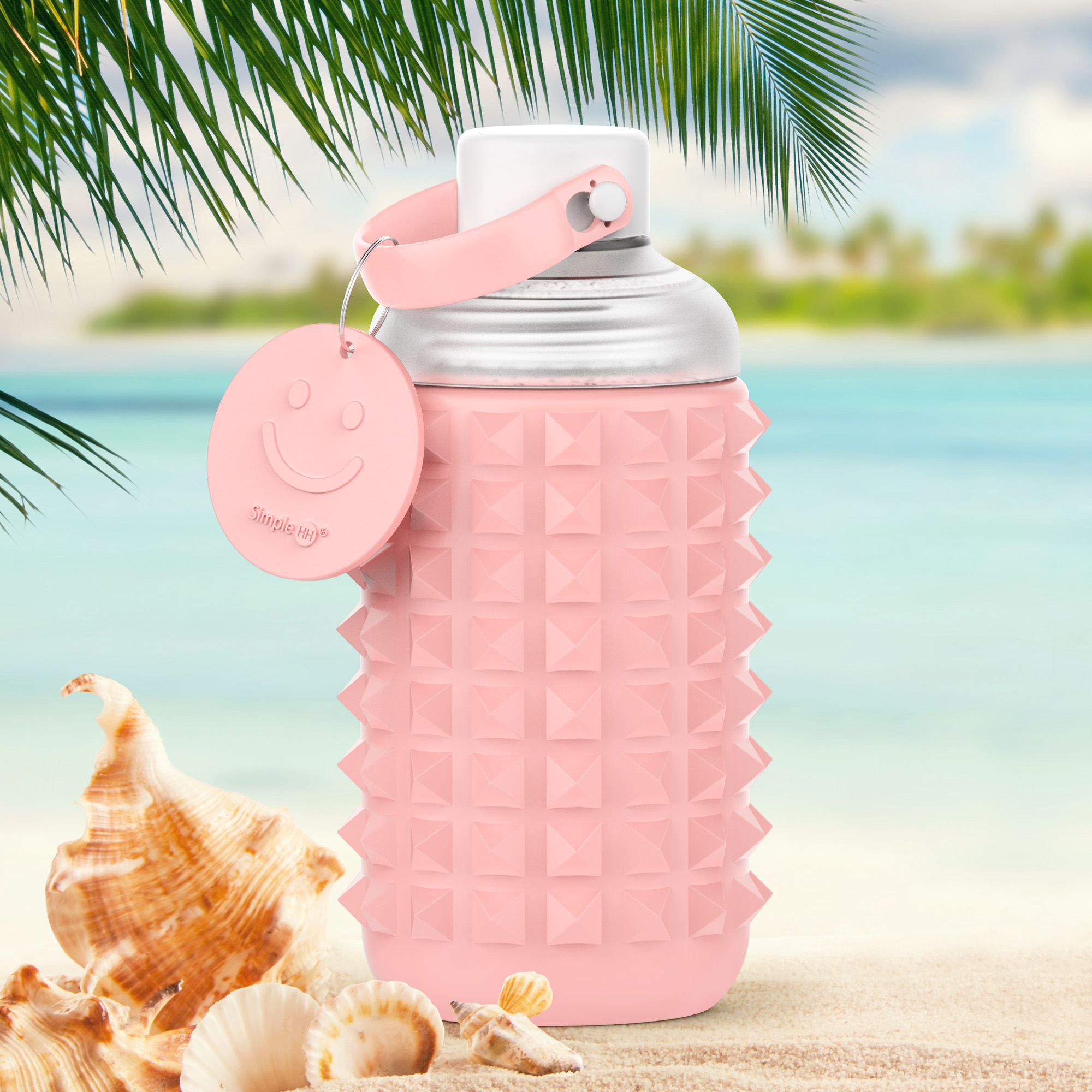 SimpleHH Double Wall Silicone Glass Water Bottle With Leak Proof Lid, Sweat Free, High Quality, Wide Mouth,|16 oz