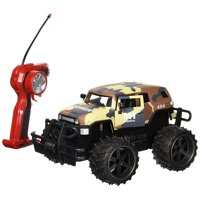 1:14 Scale FJ Cruiser SUV Army Camo Cross Country, Battery Operated Remote Controlled 4WD MH 2.4 GHz Toy RC Truck w/Remote Control,& Door Opening Action