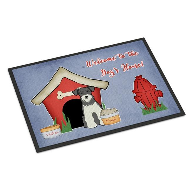 Carolines Treasures BB2808MAT Dog House Collection Miniature Schanuzer Salt & Pepper Indoor or Outdoor Mat, 18 x 0.25 x 27 in. - image 1 de 1