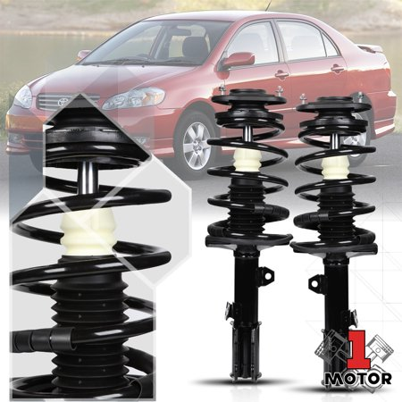 Front L+R Strut Assembly Shock Absorber w/Coil Spring for 03-08 Toyota Corolla 04 05 06 07