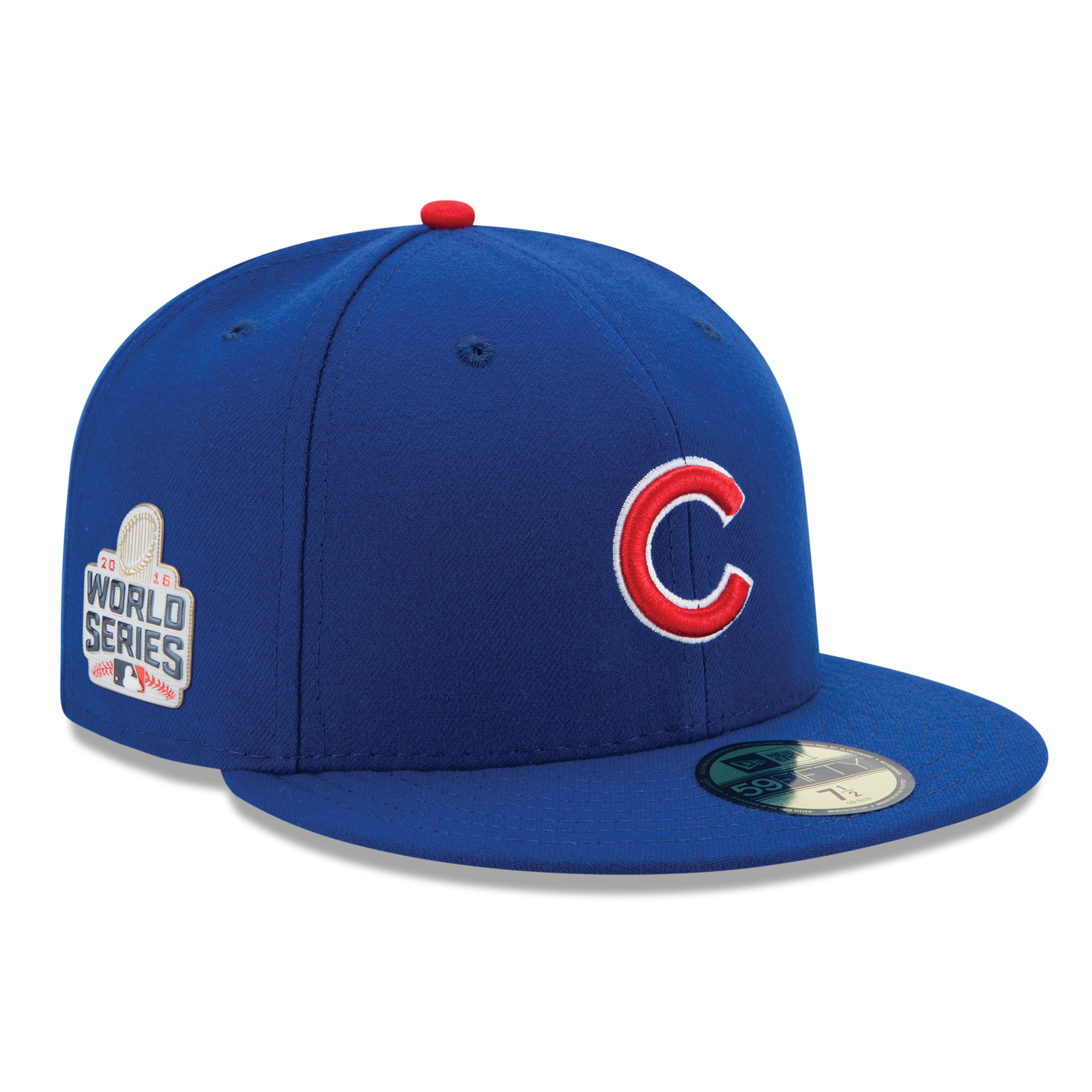 Chicago Cubs New Era 2016 National League Champions World Series Patch 59FIFTY Fitted Hat - Royal