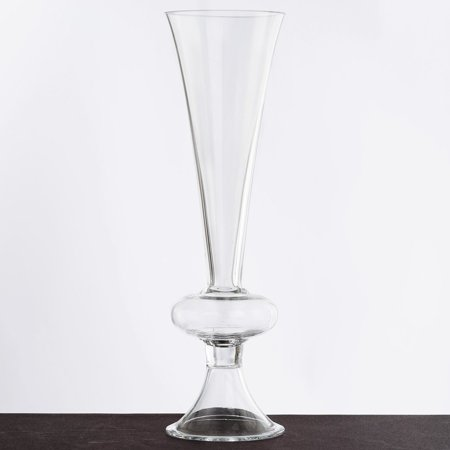 Balsacircle Clear 4 Pcs 13 Tall Glass Trumpet Vases Wedding Party