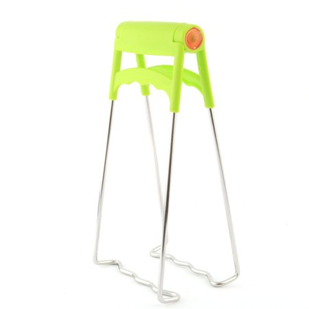 Kitchenware Plastic Handle Metal Anti-Scald Foldable Dish Plate Clamp Clip Green