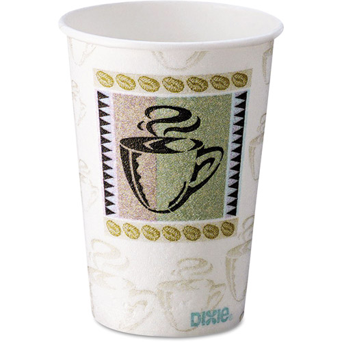 Dixie Coffee Dreams Design PerfecTouch 10 Ounce Paper Hot Cups, 500ct