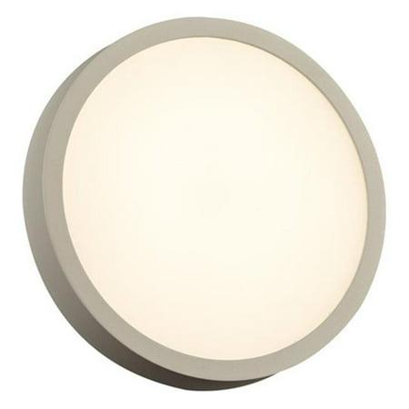 plc 2256sl 18w one olivia contemporary silver led outdoor wall lighting sconce, aluminium