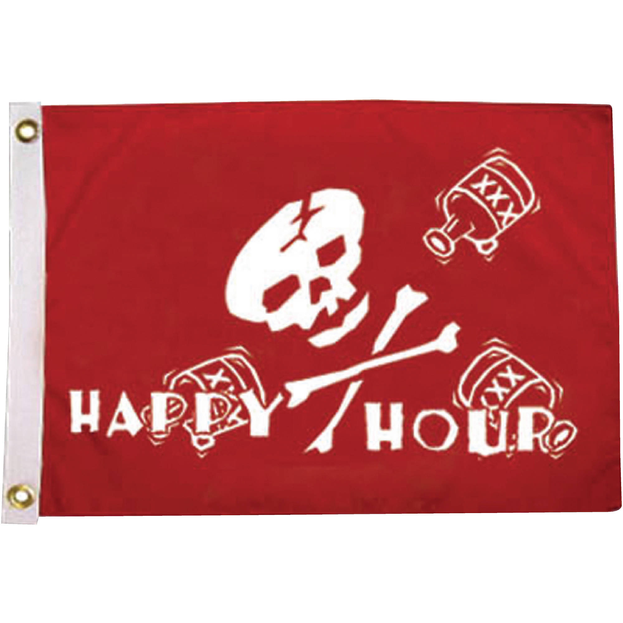 "Taylor Pirate Heads Flag,, 12"" x 18"""
