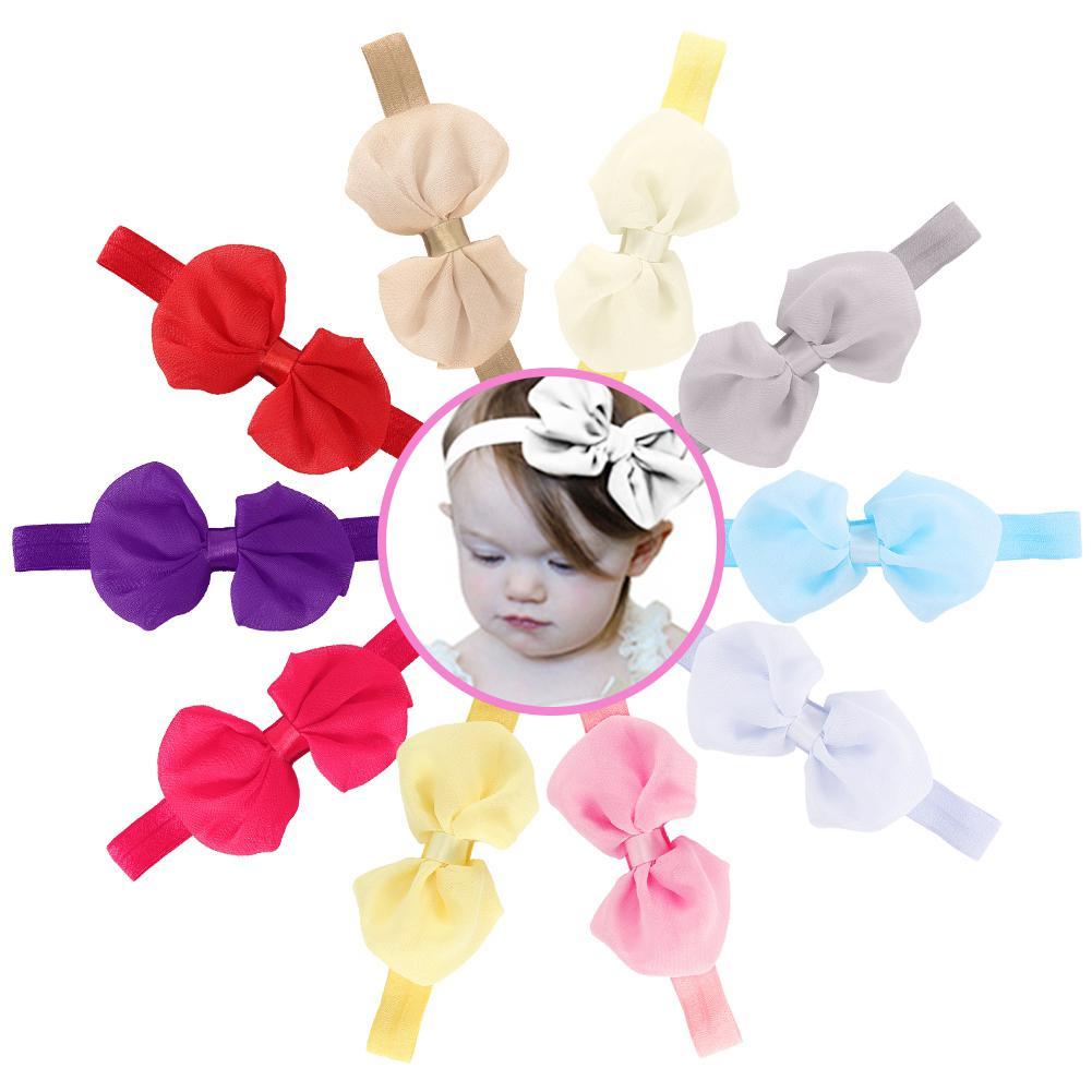 Baby Kids Girls Headwear Party Cute Band Mini Bowknot Hairband Elastic Headband