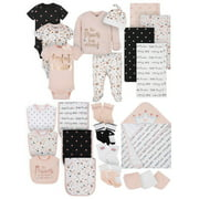 Gerber Baby Girl Organic Newborn Clothes Essentials Shower Gift Set, 24-Piece