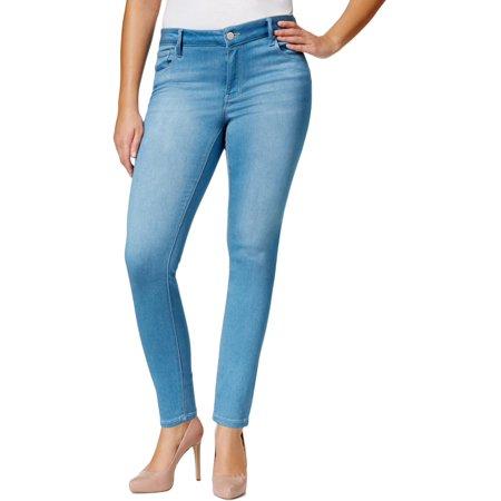 Celebrity Pink Womens Plus Walker Denim Ankle Skinny Jeans