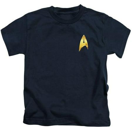 Trevco Sportswear CBS2558-KT-3 Star Trek Discovery & Command Badge-Short Sleeve Juvenile 18-1 T-Shirt, Navy - Large 7 - image 1 of 1