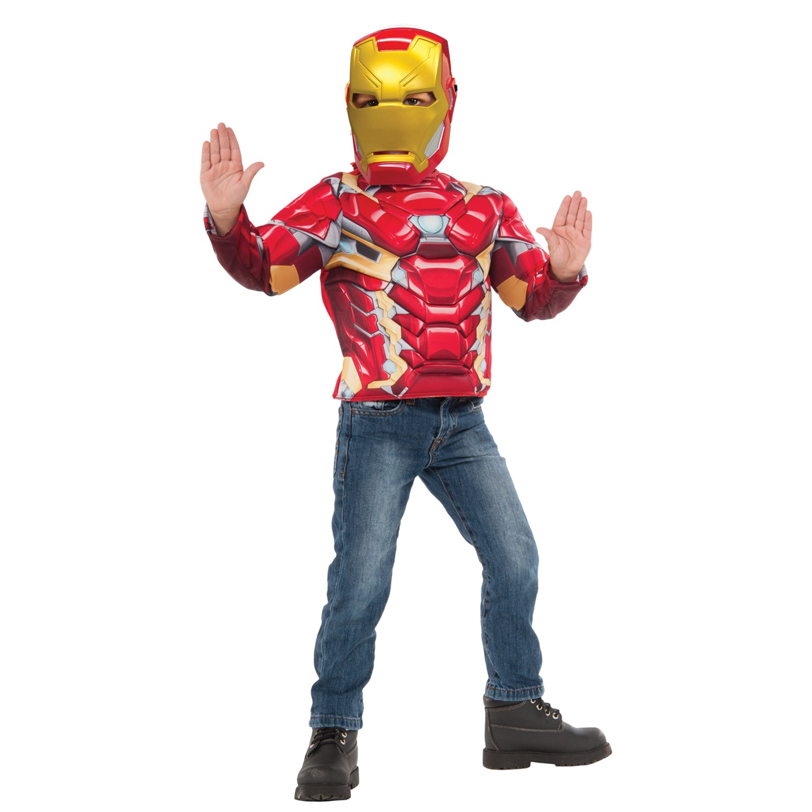 Muscle Chest Iron Man Shirt Set