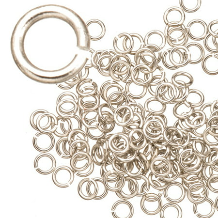 21 Gauge Jumpring Silver Finished Brass 4mm 200pcs/pack (5-Pack Value Bundle), SAVE