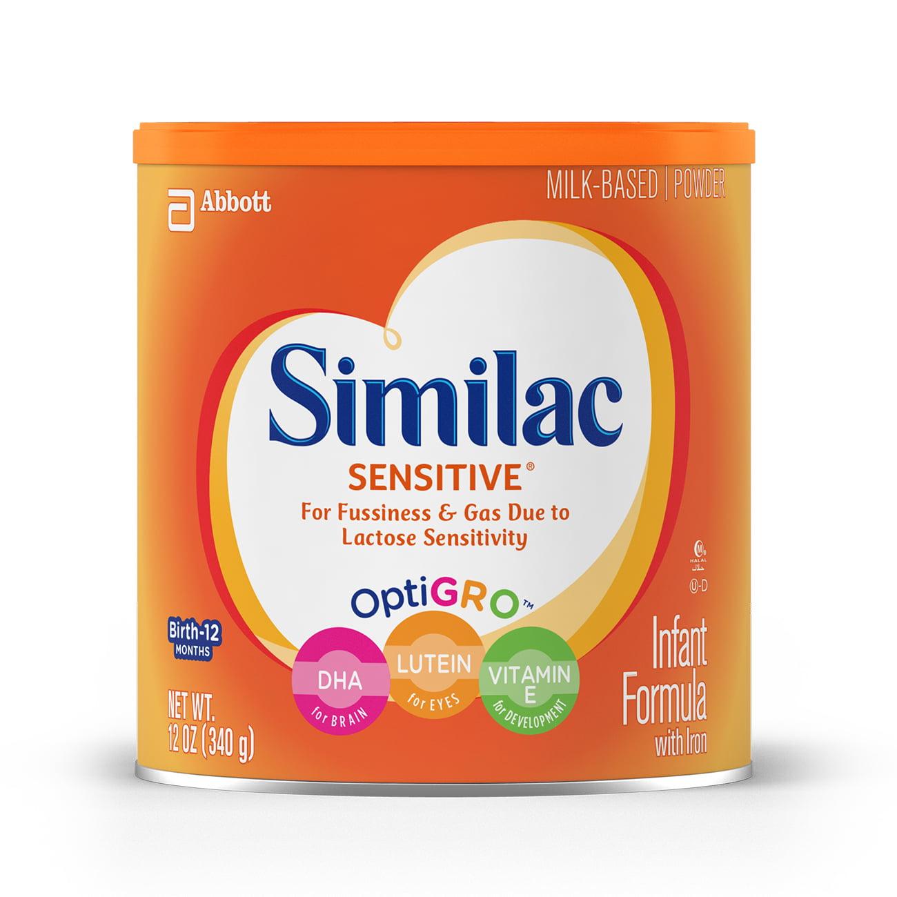 Similac Sensitive Infant Formula with Iron (6 Pack) Powder, 12 oz