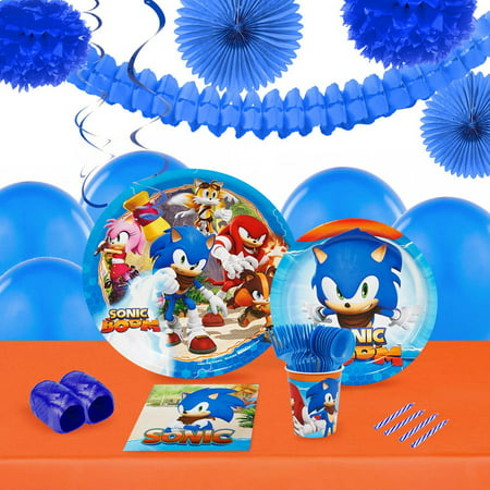 Sonic Boom 16-Guest Tableware and Decoration Kit