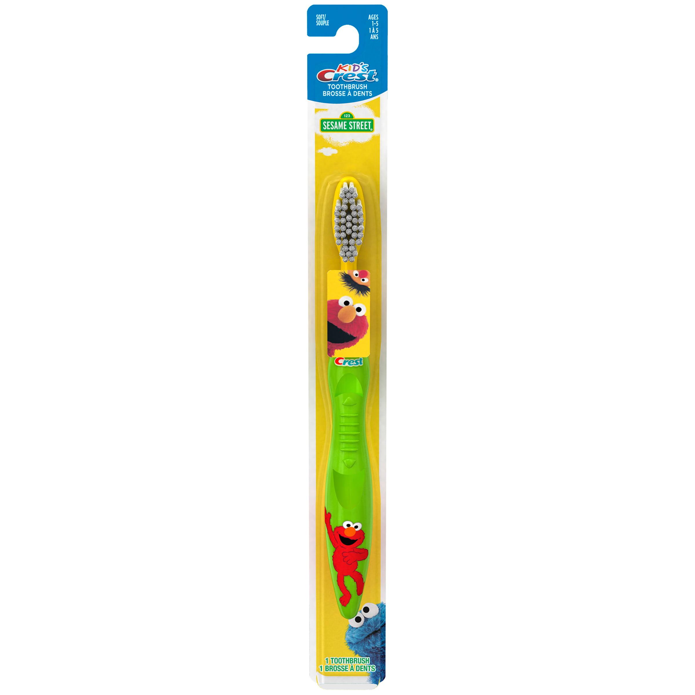 Crest Kid\'s Sesame Street Soft Bristles Toothbrush, 1 ct - Walmart.com