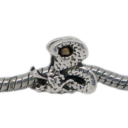 Dragon Charm Spacer European Bead Compatible for Most European Snake Chain Bracelet