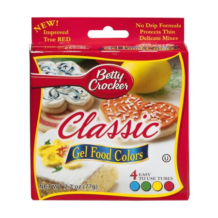 Betty Crocker Classic Gel Food Colors - 4 CT - Walmart.com