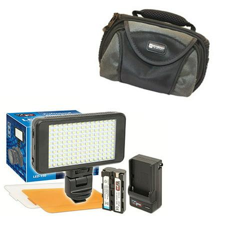 Fujifilm FinePix HS25EXR Digital Camera Lighting Vidpro Ultra-Slim LED-230 Video and Photo LED Light Kit- With SDC-26 Case Digital Photo Lighting Kit