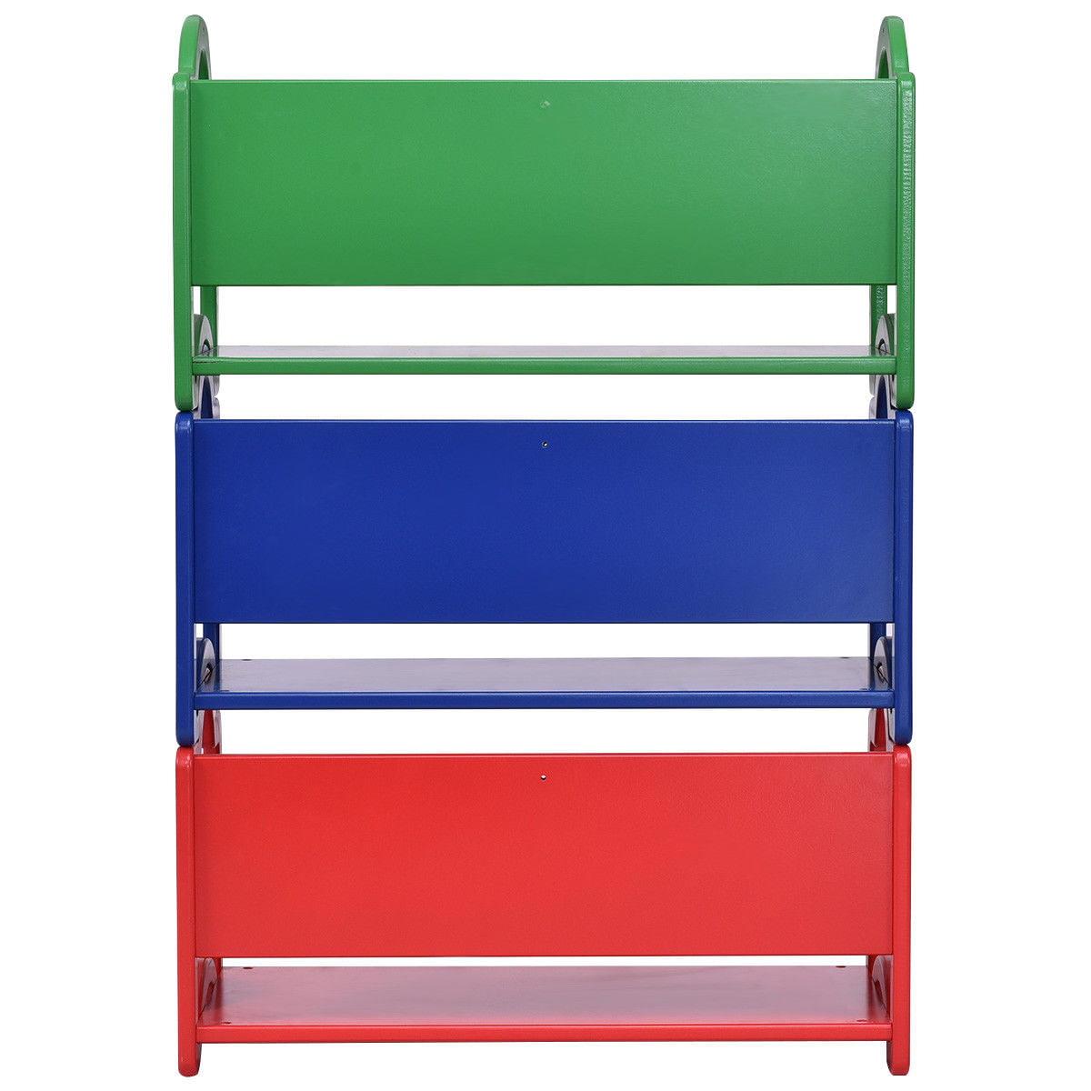 Gymax Kids Book Shelf Storage Rack Organizer Bookcase Display Holder Home Furniture - image 5 of 10