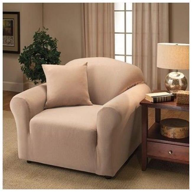 Kashi SC020535 Jersey Slip Cover Love Seat - Chocolate