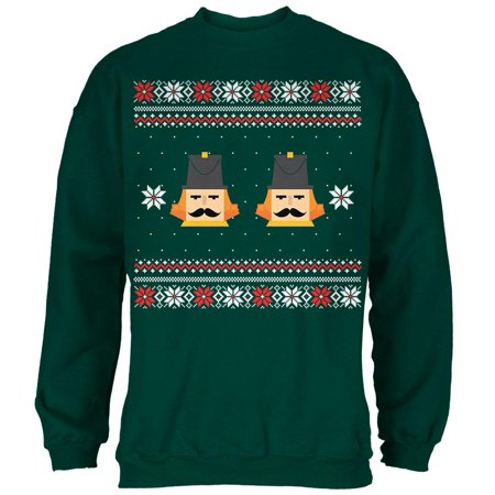 Green Day Christmas Sweater.Nutcracker Full Color Ugly Christmas Sweater Dark Green Adult Sweatshirt