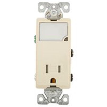 Combination LED Nightlight with TR Receptacle, Light Almond
