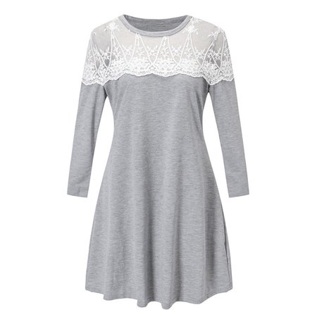 Newstar Tunic Tops For Leggings For Women Round Neck Tops Lace