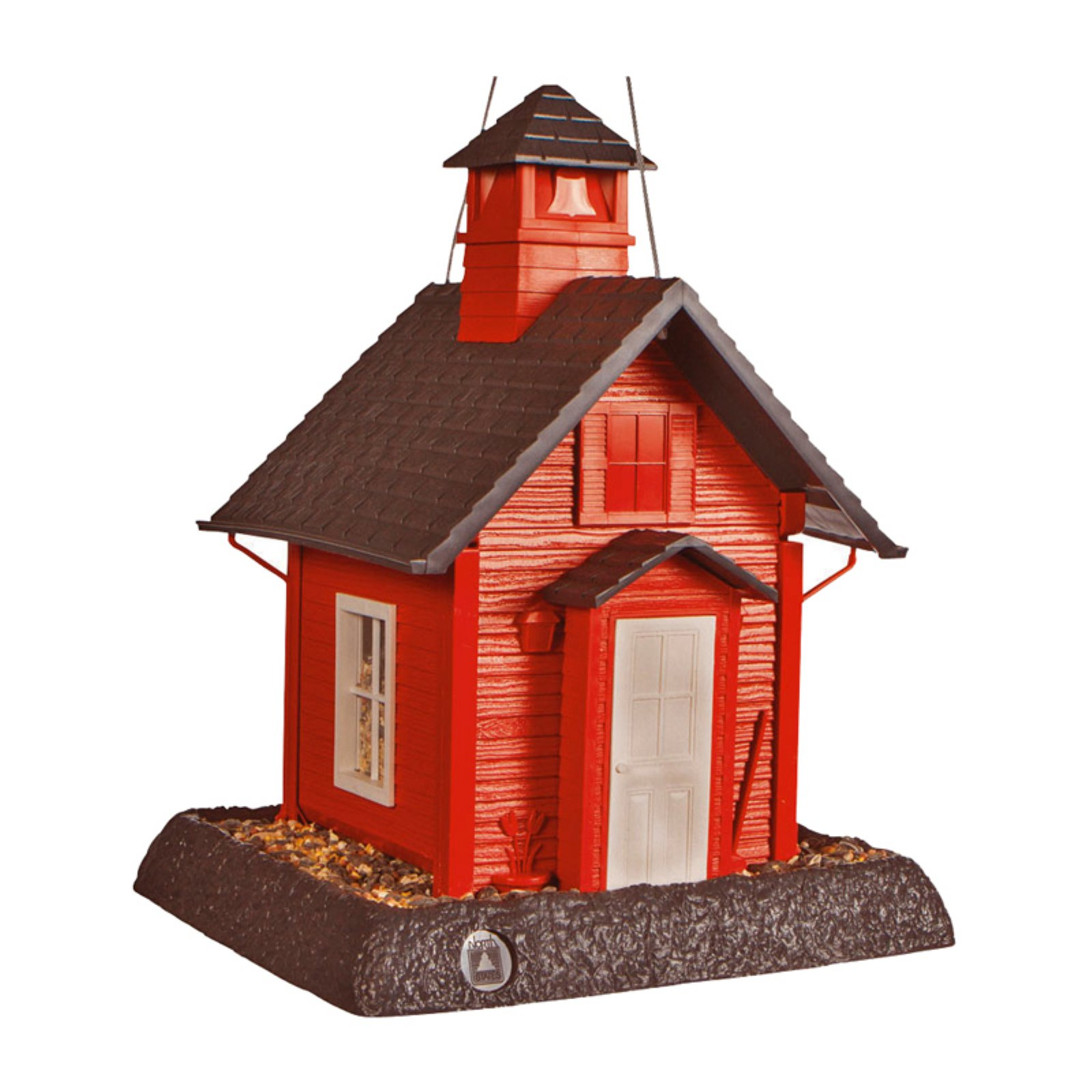 North States 9084 Lil' Red School House Village Collection Bird Feeder
